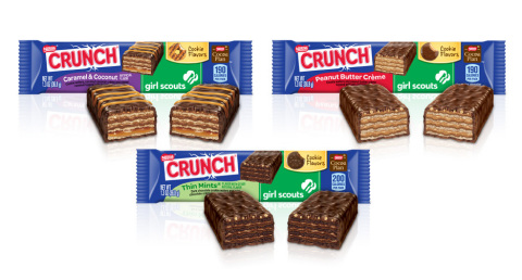 Fans of Nestlé Crunch Girl Scout Candy Bars can help send girls to camp by sharing their favorite ca ...