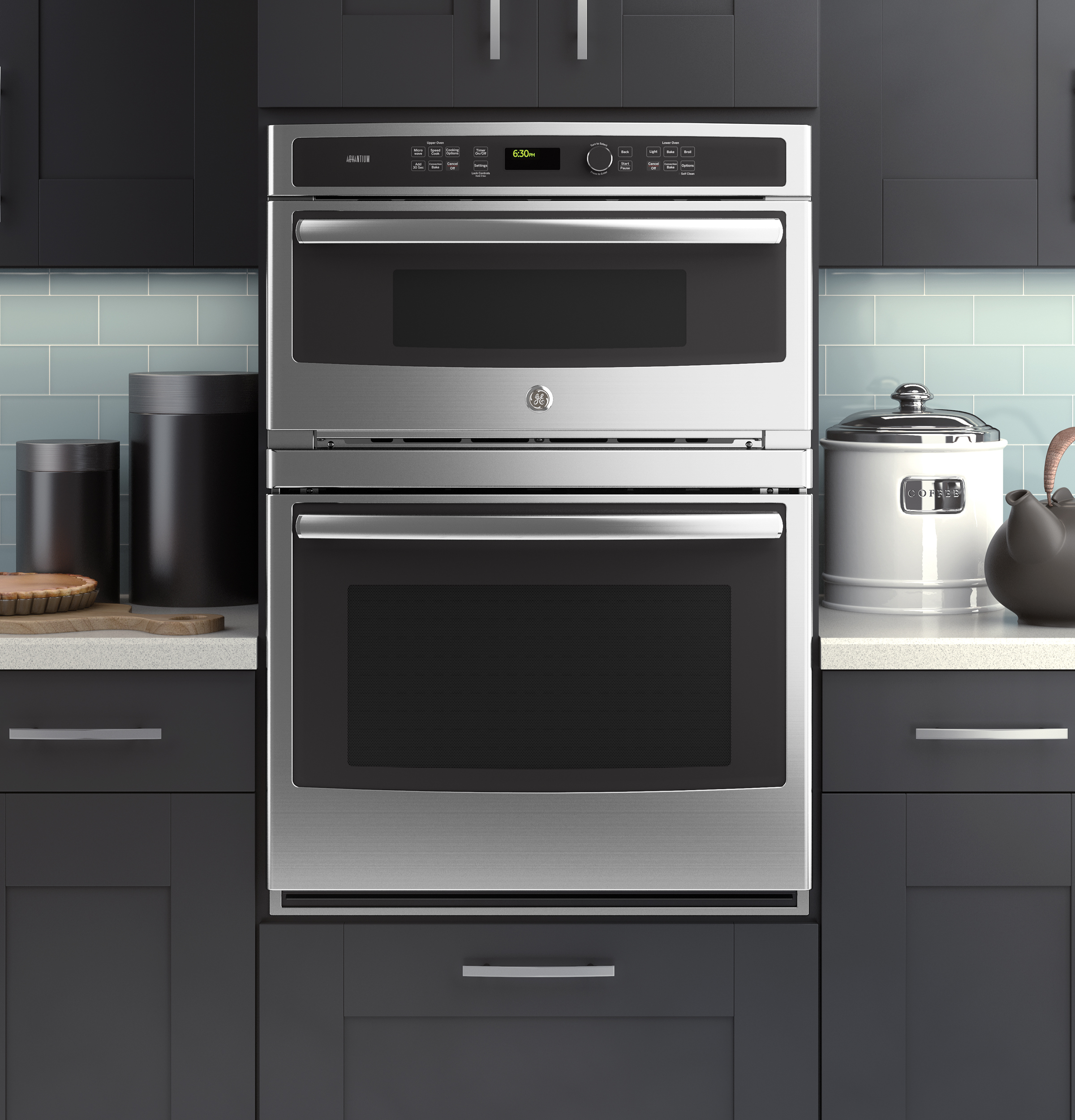ge modernizes the microwave wall oven