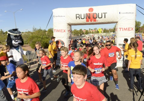 More than 200 kids take off for the finish line at a recent UnitedHealthcare IRONKIDS Fun Run.Miam ...