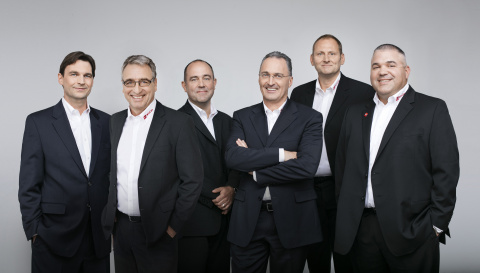 Holger Zinn (second from left), CD-Lab's new European Sales Manager, is welcomed by the company's ma ...