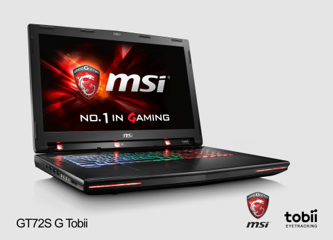 MSI GT72 Dominator Pro Tobii - the world's first consumer notebook with integrated eye tracking. (Ph ...