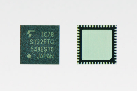 """Toshiba: bipolar 2-channel stepping motor driver """"TC78S122FTG"""" (QFN package version) offering a maxi ..."""