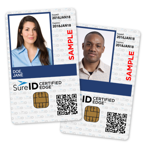 New SureID Certified Edge solution credential (Photo: Business Wire)