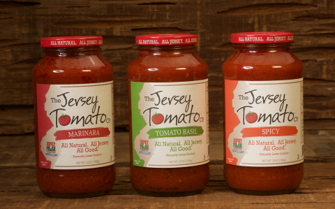 Three tomato sauces - Marinara, Tomato Basil & Spicy - from The Jersey Tomato Co. All Natural. All J ...