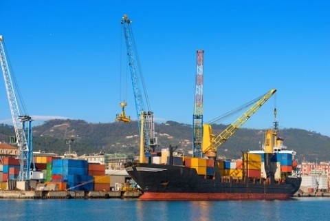 Cargo Container Ship in Port (Photo: Business Wire)