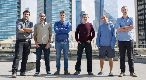Medigate team: From left to right. Co-founder/VP Product Pini Pinhasov, Oran Avraham, Co-founder/CEO ...