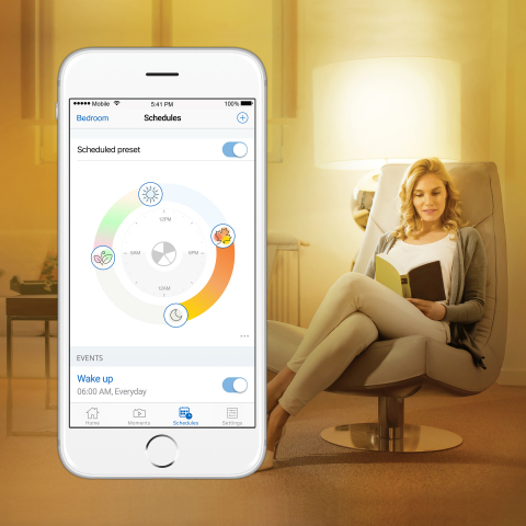 WiZ Announces Lifestyle Smart Lights Feature with New Scheduled Presets at CES 2018 -- Add even grea ...