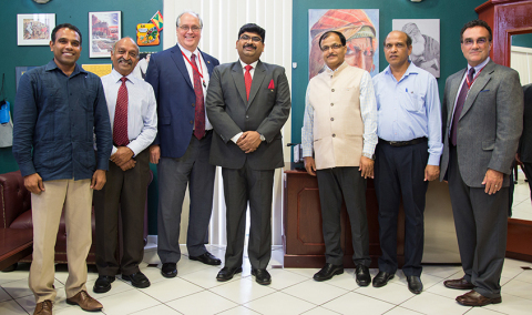 St. George's University welcomed His Excellency, Shri Biswadip Dey, High Commissioner of India (cent ...
