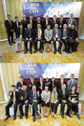 Managing Director& CEO Yu-Ching Su of Taipei Exchange is pictured with representatives from TPEX mai ...