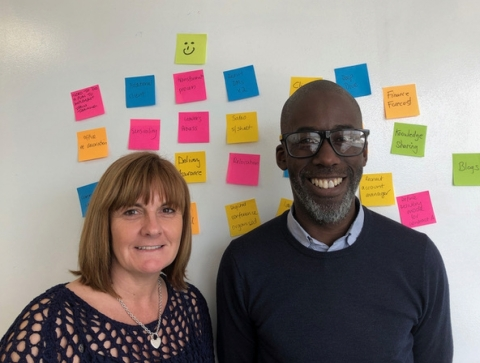 Agilesphere new appointments: Louise Jackson & Roger George (Photo: Business Wire)