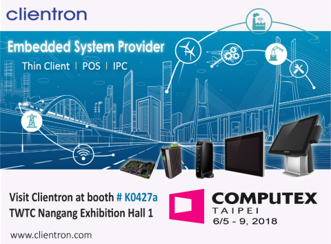 Clientron showcases multiple innovations of Thin Client, POS and Embedded IPC at Computex Taipei 201 ...