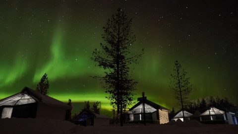 The 71 hi-tech glass-roofed igloos are saving energy by using smart ABB technology. (Photo: Business ...