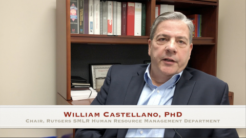 William G. Castellano, Chair of the Department of Human Resource Management at Rutgers SMLR, on the  ...