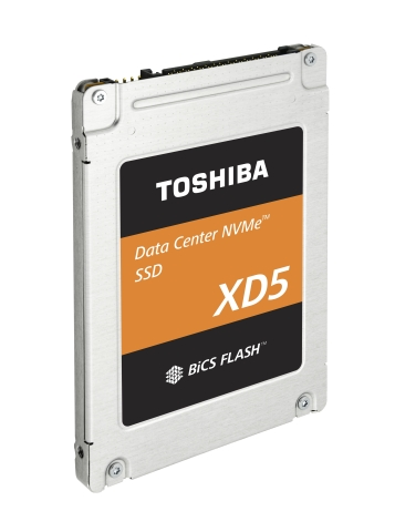 Toshiba Memory Corporation: 2.5-inch Form Factor Product of Data Center NVMe(TM) SSDs (Photo: Busine ...