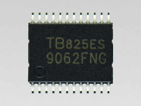 "Toshiba: Sensorless control pre-driver IC ""TB9062FNG"" for automotive BLDC motors. (Photo: Business W ..."
