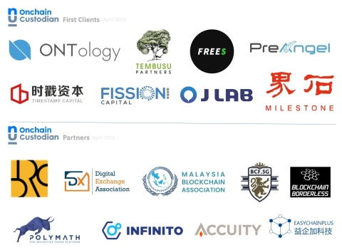 Onchain Custodian first batch of customers and partners (Graphic: Business Wire)