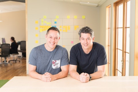 AskNicely co-founders Aaron Ward (left) and John Ballinger (Photo: Business Wire)