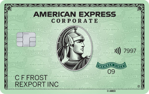American Express Corporate Green Card (Photo: Business Wire)