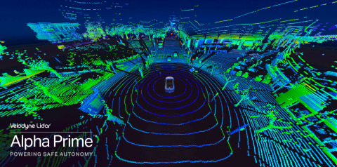 Velodyne Alpha Prime™ is an unmatched solution in perception, field-of-view and range for autonomous markets including transportation, trucking and robotics. (Photo: Velodyne Lidar)