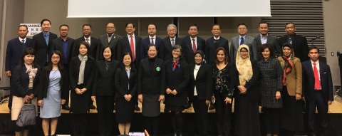 Government representatives from nine ASEAN countries who participated in the ASEAN Services Trade Forum held in Tokyo. (Photo: Business Wire)