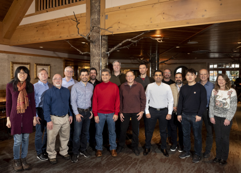 The Docugami startup team, with Ilya Kirnos of SignalFire, and Bob Muglia, celebrating the closing of the $10 million seed funding round in Seattle, February 2020. (Photo: Business Wire)