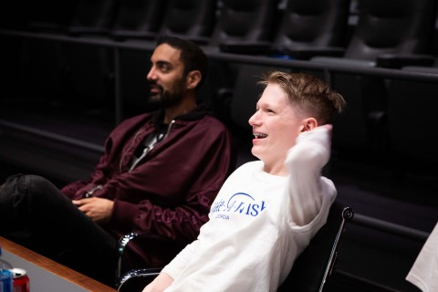 2K's Ronnie 2K and Make-A-Wish kid William Floyd at 2K in Novato, CA. (Photo: Business Wire)