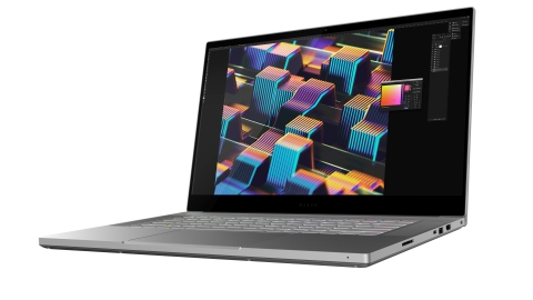 Featuring a custom calibrated 4K OLED touch display with Gorilla Glass, the Razer Blade 15 Studio Edition is perfect for creating anywhere at any time. (Photo: Business Wire)