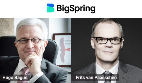 Hugo Bague and Frits van Paasschen, Advisors, BigSpring (Photo: Business Wire)
