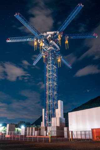 Energy Vault Commercial Demonstration Unit - Arbedo-Castione, Switzerland. (Photo: Business Wire)