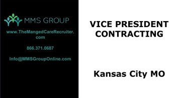 Managed Care Jobs - VP Contracting Kansas City