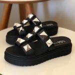 Chinelo Flat Feminino Preto Com Taxas Coleção Verão Loja Online MM Store Shoes (2)