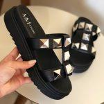Chinelo Flat Feminino Preto Com Taxas Coleção Verão Loja Online MM Store Shoes (3)