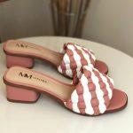 Tamanco Feminino Rose com Branco Salto bloco Baico Conforty Nova Coleção Verão Loja Online MM Store Shoes (15)