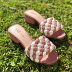Tamanco Feminino Rose com Branco Salto bloco Baico Conforty Nova Coleção Verão Loja Online MM Store Shoes (18)