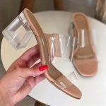Tamanco Feminino Rosado de Salto Transparente e Vinil Coleção Primavera Verão Moda e Tendência em Calçados Femininos Loja Online MM Store Shoes (21)