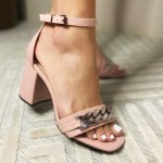 Sandália Feminina Rose de Salto Bloco e Detalhes em Correntes Nova Coleção Primavera Verão Loja Online Mm Store Shoes Moda e Tendência (4)