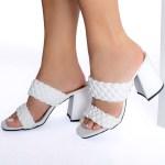 Tamanco Feminino Branco de Salto Bloco e Detalhes em Tranças Tendencia da Moda em Sapatos Femininos – Loja Online MM Store Shoes (4)
