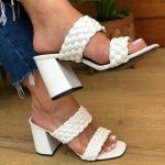 Tamanco Feminino Branco de Salto Bloco e Detalhes em Tranças Tendencia da Moda em Sapatos Femininos – Loja Online MM Store Shoes (a) (2)