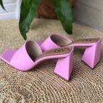 Tamanco Feminino Rosa de Salto Feométrico têndencia da Moda Nova Coleção Verão 2022 Loja Online MM Store Shoes (11)