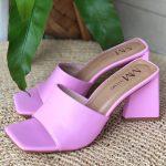Tamanco Feminino Rosa de Salto Feométrico têndencia da Moda Nova Coleção Verão 2022 Loja Online MM Store Shoes (9)