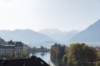 Schöne Schattierungen und Ausblick auf den Thunersee