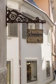 Schöne Schneiderei-Tafel