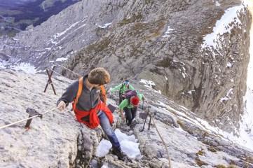 Auf der Himmelsleiter zum Gipfel des Säntis