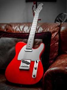 red fender telecaster maple neck