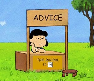 lucy gives advice