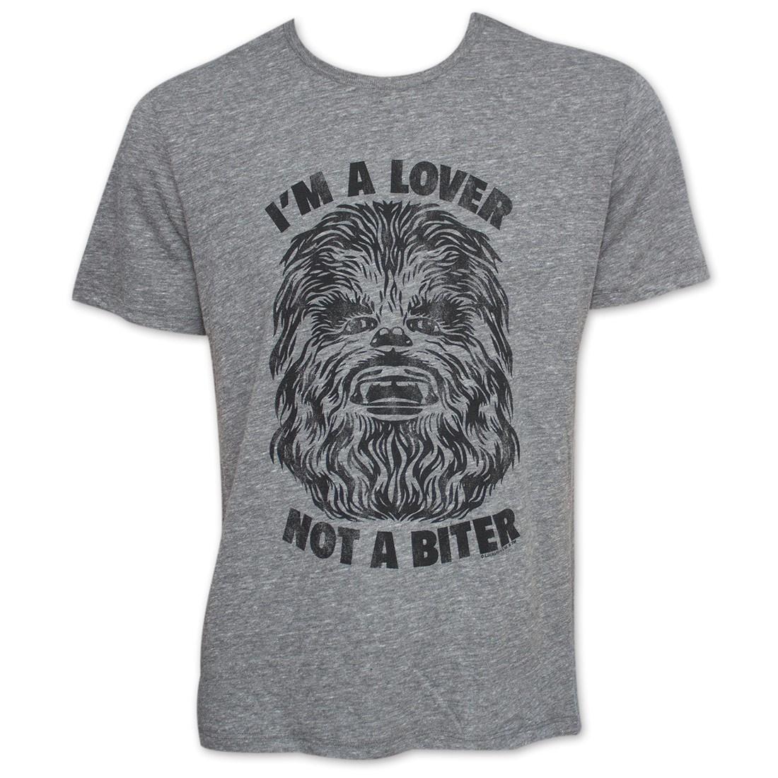 Men S Star Wars Lover Not A Biter Chewbacca Junk Food Tshirt