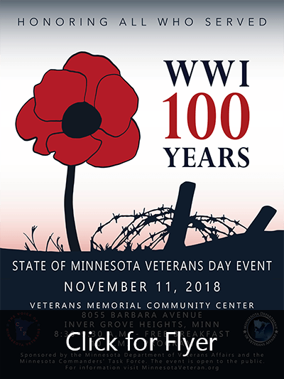 State of Minnesota Veterans Day 2018 Poster