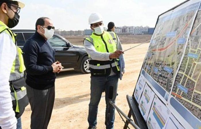 نتيجة بحث الصور عن . السيسى يتفقد مشروع مركز النقل المتكامل بمساحة 300 فدان