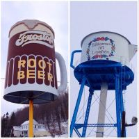 Coffee Pot Water Tower / Frostop Rootbeer