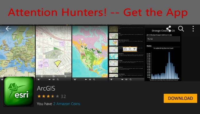 Great for Hunters 'Where are you' Map App